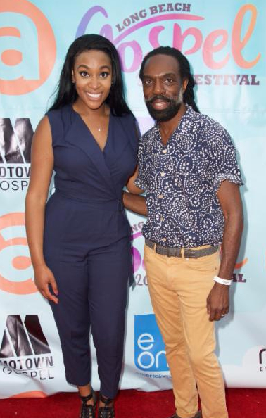 Jessica Reedy and Kevan Hall on REd Carpet at Long Beach Gospel Festival 2015.