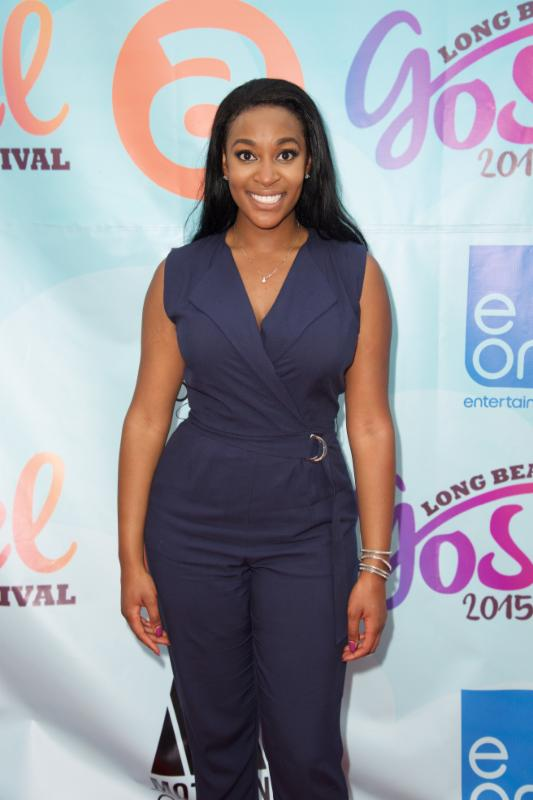Jessica Reedy on the Red Carpet at Long Beach Gospel Festival 2015.