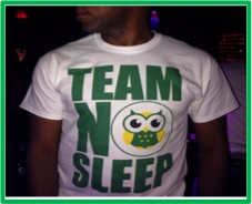 Team No Sleep t-shirt by Adorned clothing