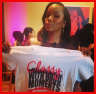 LeToya Luckett with Adorned Clothiing t-shirt Classy with Hood Moments.