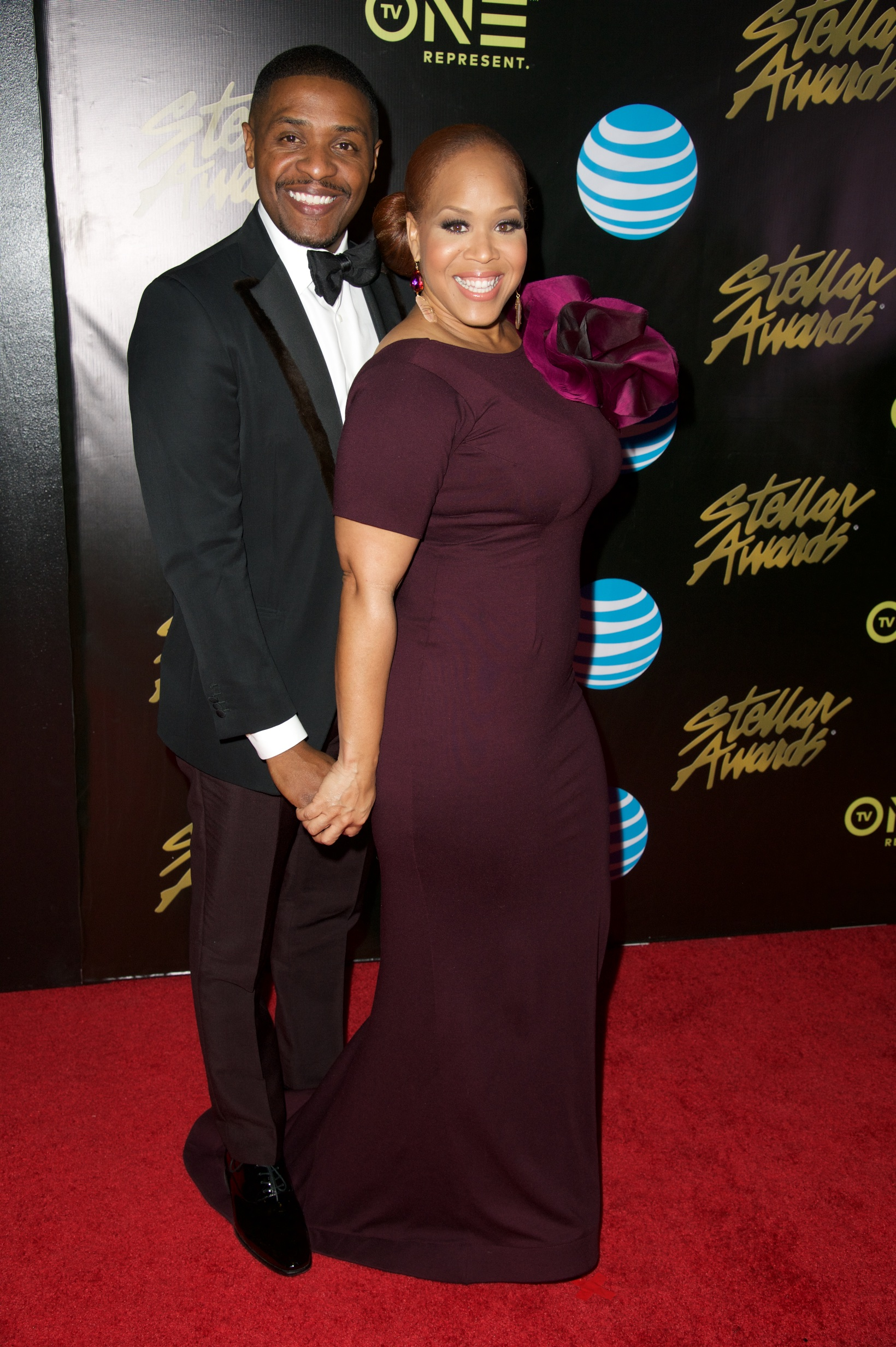 Teddy and Tina Campbell on the Red Carpet at 2016 Stellar Awards