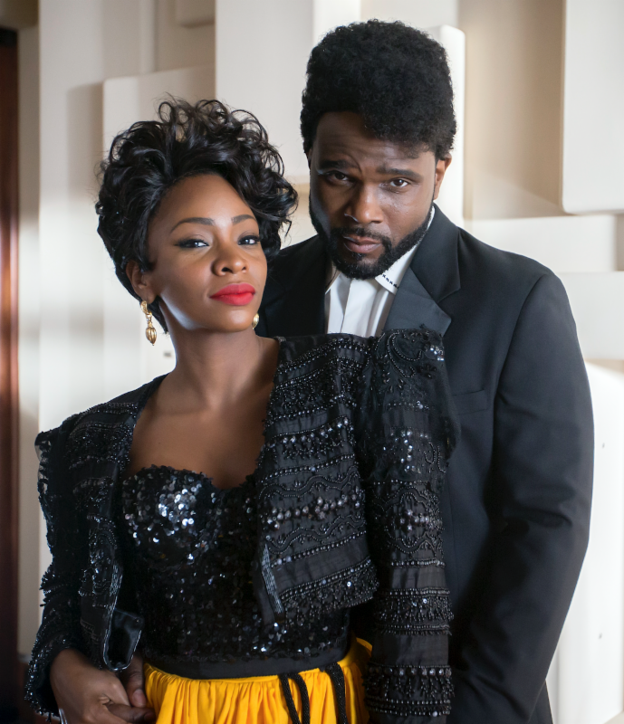 photo of Teyonah Parris and Darius McCrary from TV ONe moveie Love Under New Managment: The Miki Howard Story