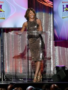 Wendy Raquel Robinson speaks at the 2016 State Farm Neighborhood Awards in Las Vegas.
