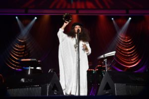 Erykah Badu performs at the 2016 State Farm Neighborhood Awards in Las Vegas.