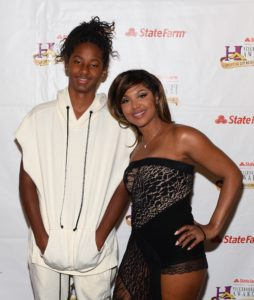 R and B Singer and reality TV Star Toni Braxton pose at the 2016 State Farm Neighborhood Awards.