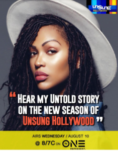 promo poster of Unsung Hollywood featuring Meagan Good