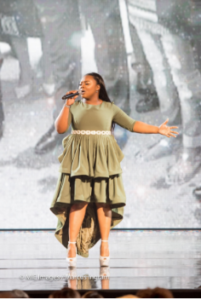 Jekalyn Carr, gospel recording artist performing.