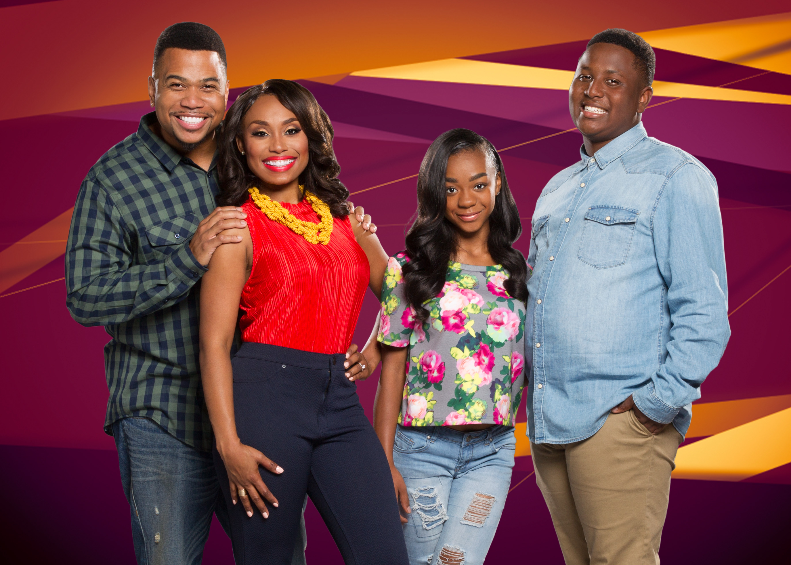 Cast of Buonce TV's Family Time sit-com.