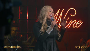 Photo of KeKe Wyatt during her guest starring role on Saints & Sinners on Bounce TV.
