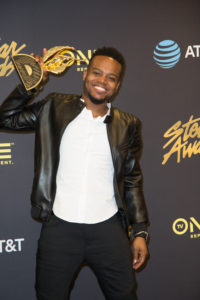 Travis Greene backstage at the Stellar Gospel Music Awards 2017 in Las Vegas.