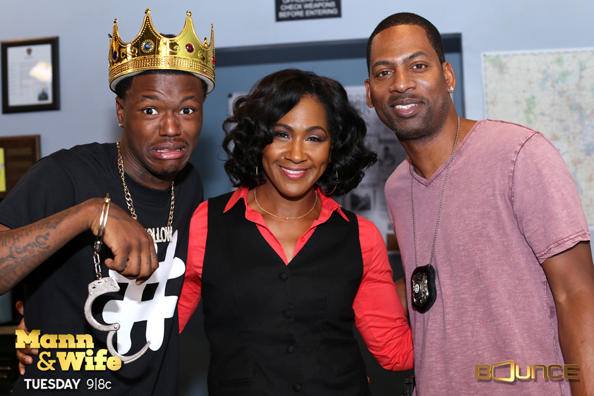 DC Young Fly, Terri J. Vaughn and Tony Rock.Mann and Wife.BounceTV