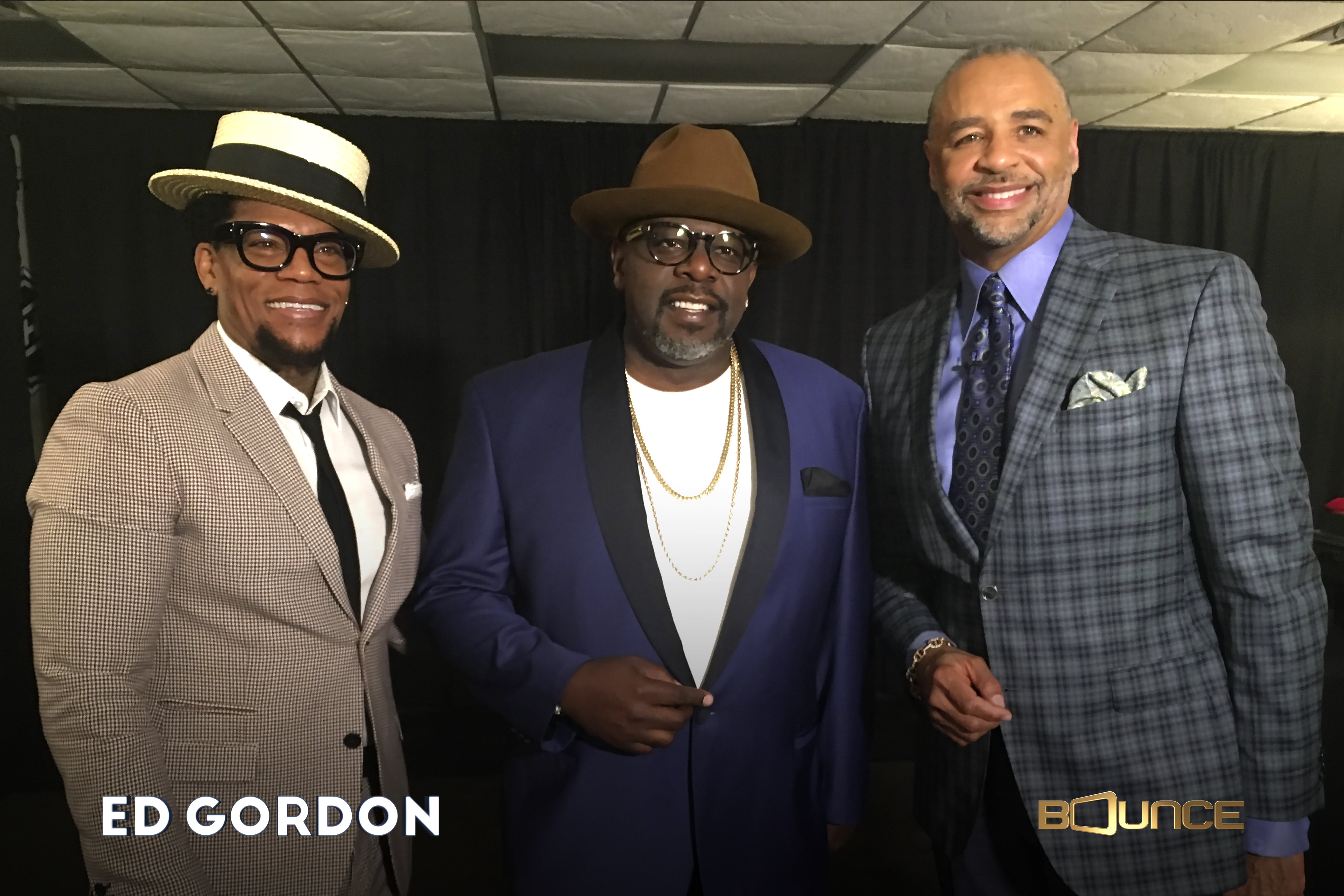 Photo of D.L. Hughley, Cedric The Entertainer and Ed Gordon.