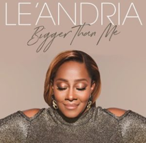 Le'Andria Johnson album cover Bigger Than Me