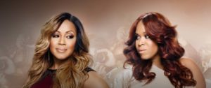 photo of Erica and Tina Campbell of We tv's reality tv show Mary Mary.