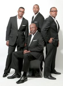 Photo of The Williams Brothers gospel recording group.