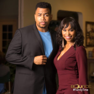 Photo of Bounce TV Family Time stars Omar Gooding and Angell Conwell.