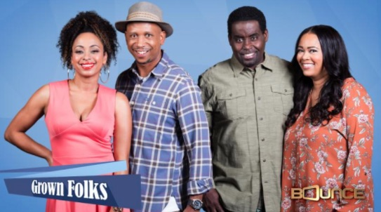 Cast of Grown Folks TV show courtesy of Bounce TV.