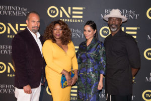 Cast members of Behind The Movement at a screening of the movie (L to R): Roger Guenveur Smith, Loretta DeVine, Meta Folding and Isaiah Washington.